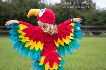Parrot Costume-8Sew an Easy Parrot Costume (perfect for Halloween or dress-up!)   via Make It and Love It