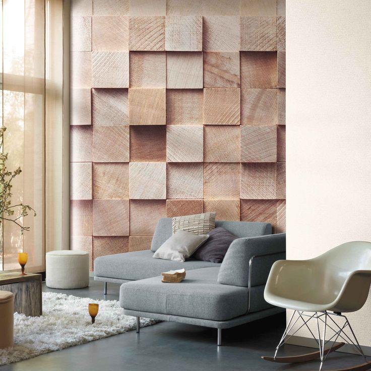 Décor mural panoramique cube effet trompe lœil http www