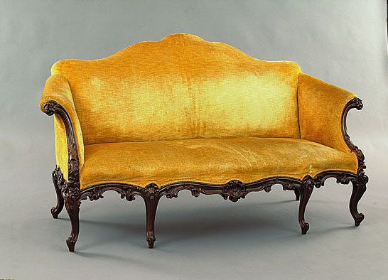 Another Sofa Similar In Style To Ours   Carved Mahogany Georgian  Chippendale Style Sofa.