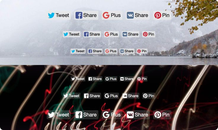 Likely, the social sharing buttons that aren't shabby