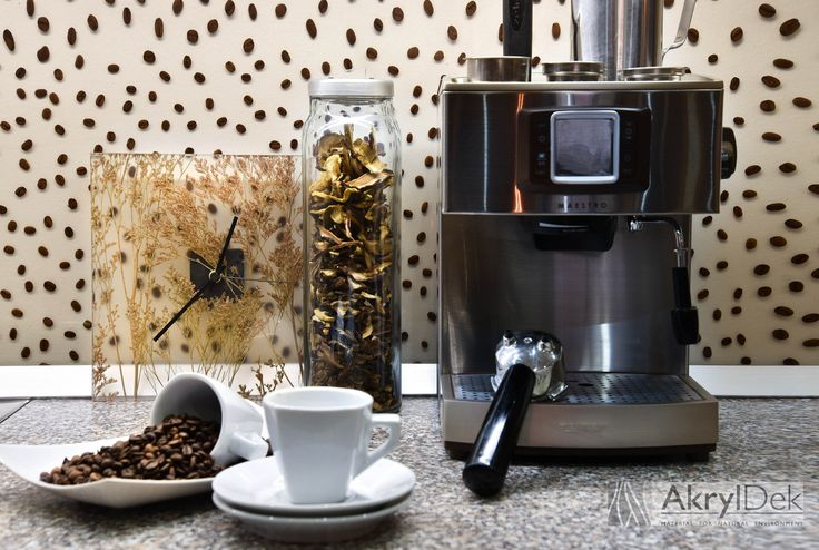 Back splash tiles with coffee beans for kitchen  #Dekorakryl #resin #panels #organic #filling #home #kitchen #ideas #design #inspiration #wall #decoration #dekorakryl