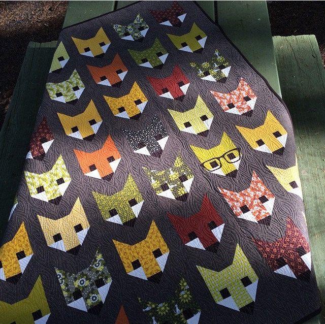 Fancy Fox Quilt Pattern By Elizabeth Hartman Fox Quilt
