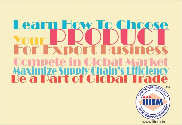 Learn how to choose your product for Export Business