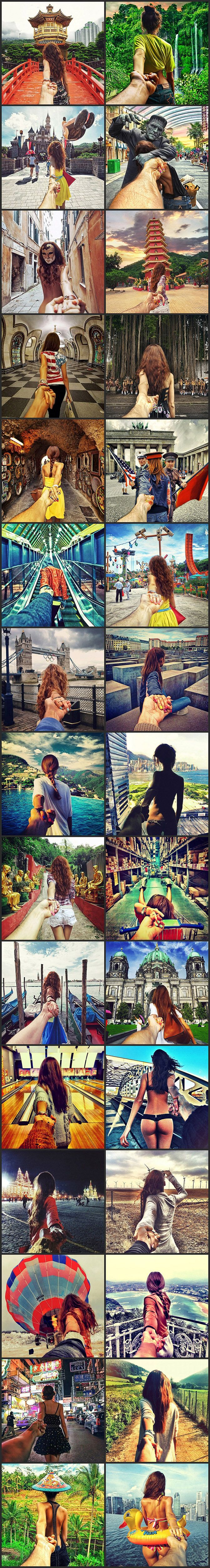 Russian Photographer Murad Osmann Instagrams Pictures Of Girlfriend Leading Him By The Hand Around The World
