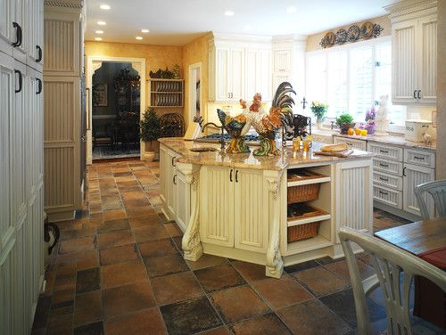Country French Rooster Kitchen Design Ideas, Pictures, Remodel And Decor