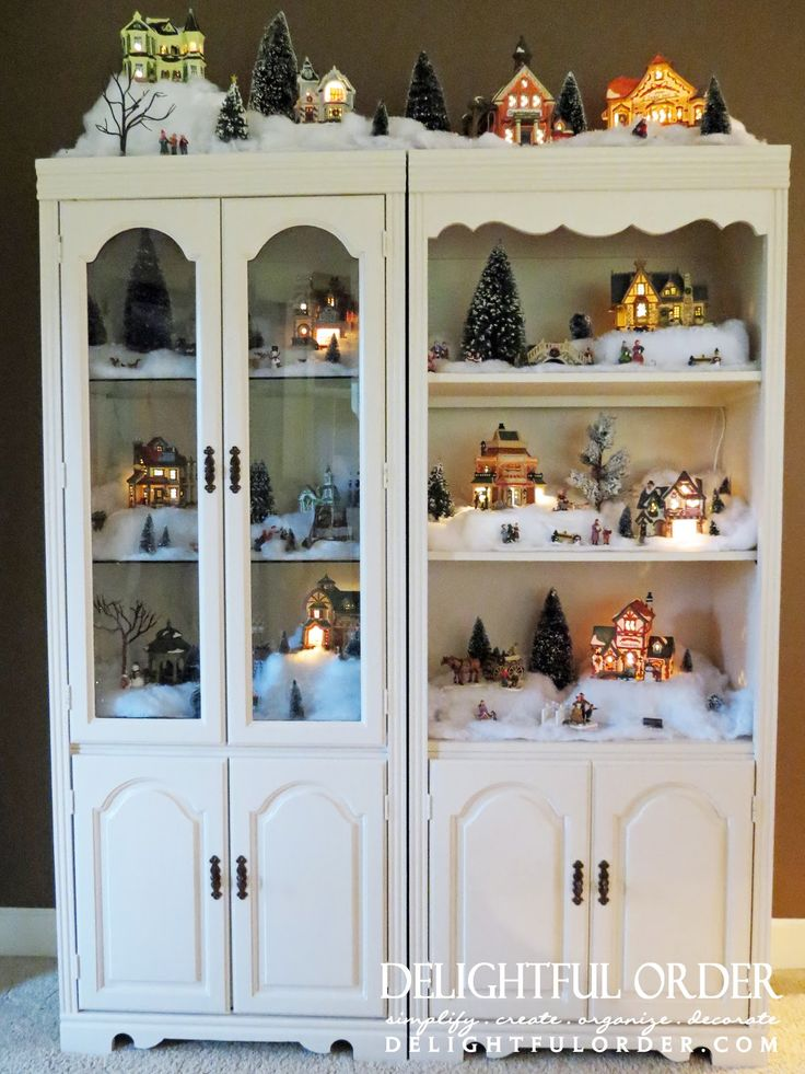 Snow Village Christmas Decor Gets a Home