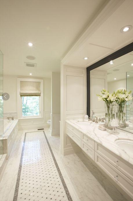 Maybe I do like white....: Bathroom Design, Romans Shades, Meredith Heron, Bathroom Wall, Bathroom Ideas, White Bathroom, Heron Design, Master Bathroom, Design Bathroom