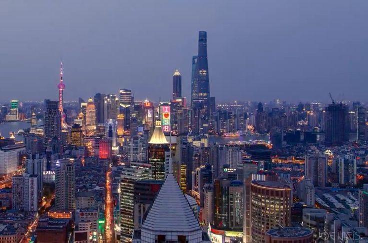 Precioso timelapse de la construcción de la Torre de Shanghái  Edificación construcción rascacielos timelapse