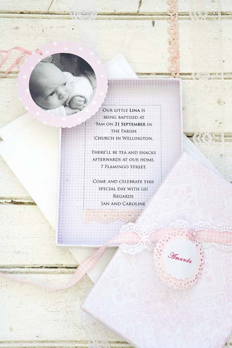 Invitation for a baby Christening