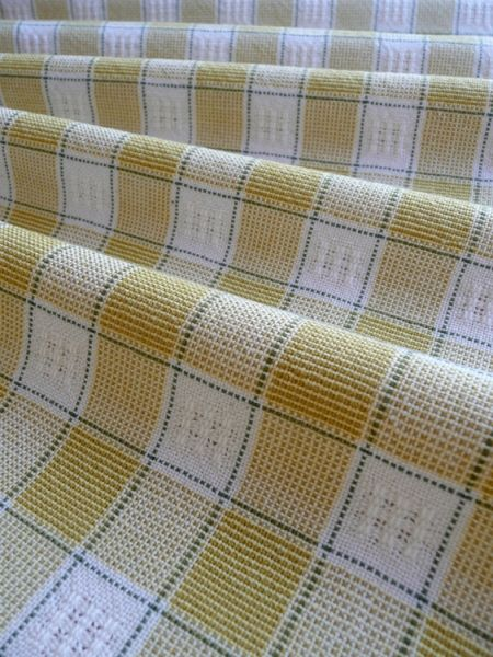 Handwoven curtain material in Bronson lace pattern. from Weavolution