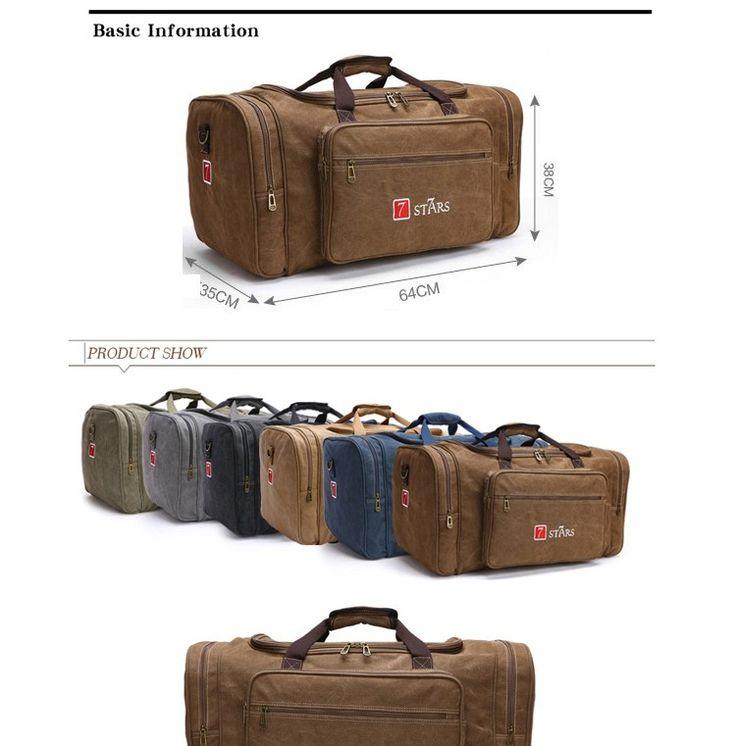 High Quality mens cotton canvas messenger shoulder travel bag for weekend