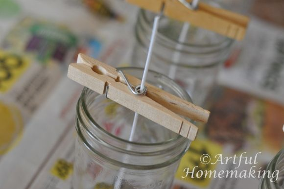 DIY soy candles with EO