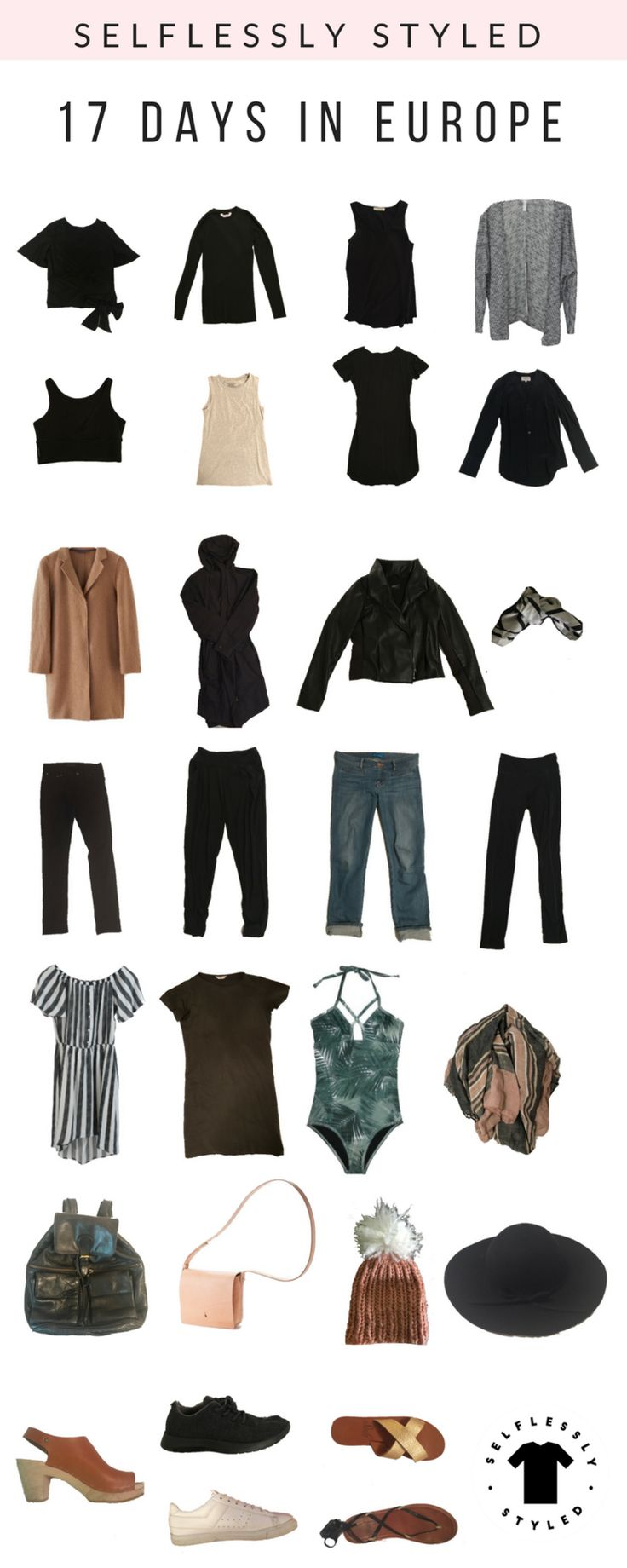 simple ethical packing list for Europe