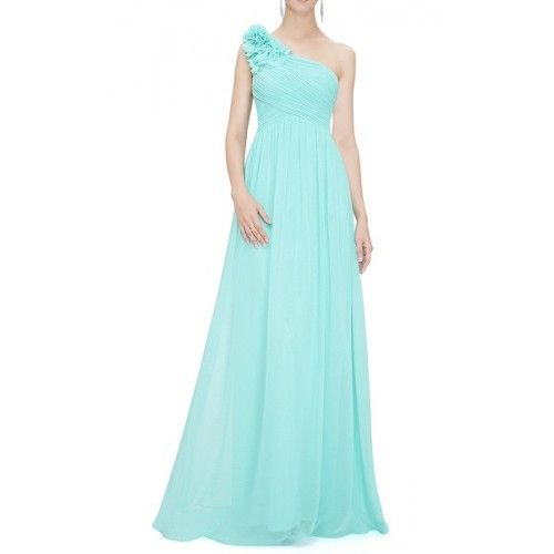 Vestido Largo Fiesta Verde Agua | Suen-Vestidos de fiesta