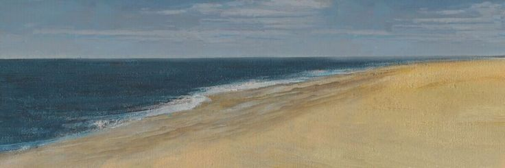 $131.90 BEACH HAND PAINTING PICTURE 50*150CM