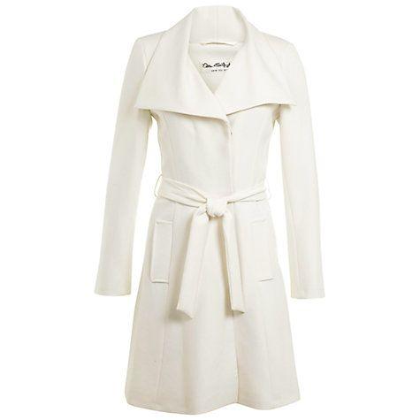 Miss Selfridge Wrap Coat in Ivory