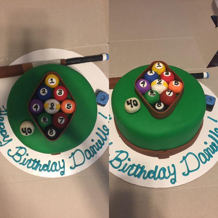 Pool Table Cake, Diamond Rack