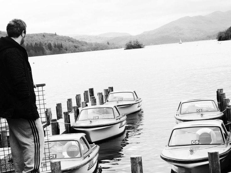 #view #lake #windermere #boat #blackandwhite #gaze #landscape #beautiful #photography
