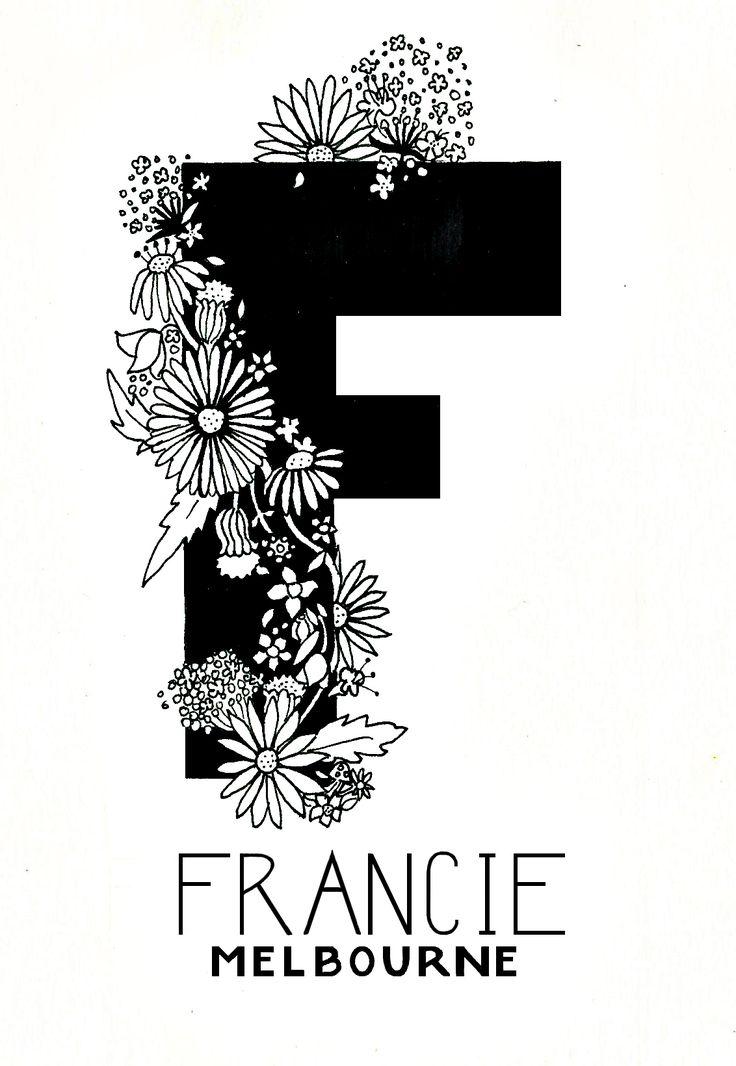 Francie Melbourne Logo development