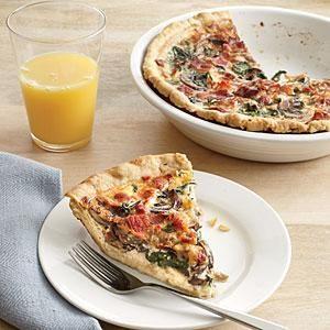 Mushroom, Gruyère, and Spinach Quiche Recipe | MyRecipes.com
