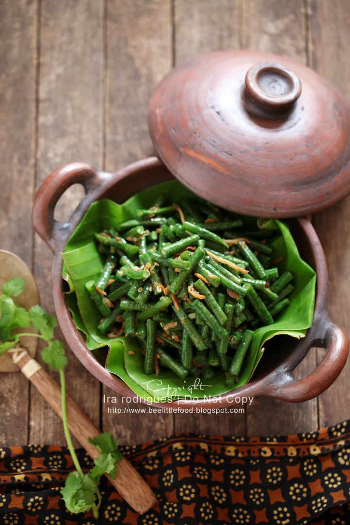 Galangal long beans and dried shrimps Stir Fry