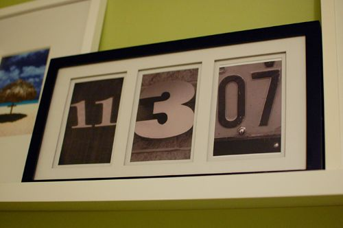anniversary date framed.