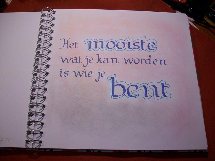Citaten Weergeven In Tekst : Blijven proberen kalligrafie pinterest