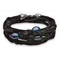 Heren armband met zwarte parels.  Armband email van geknoopt jute waarin 3 zwarte parels zijn verwerkt.  € 103,-  #bracelet #pearl