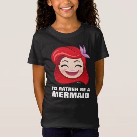 Little Mermaid Emoji | Princess Ariel - Happy T-Shirt - click/tap to personalize and buy