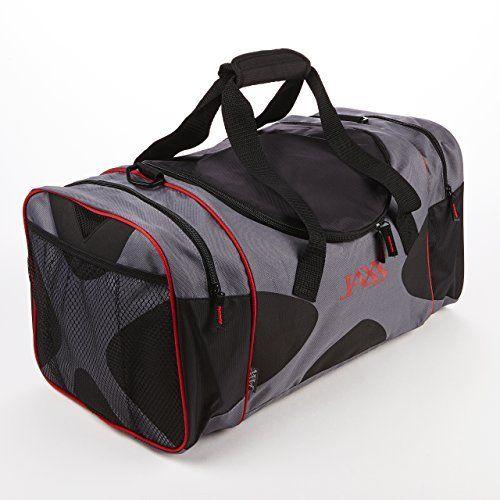 Jaxx Insulated Duffel Bag (Black & Red)