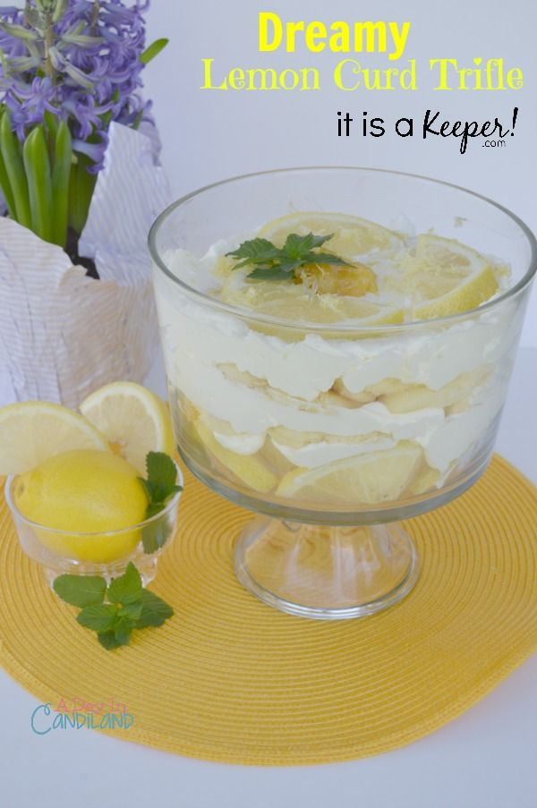Dreamy lemon curd trifle recipe easy desserts it is for Quick and easy trifle dessert recipes