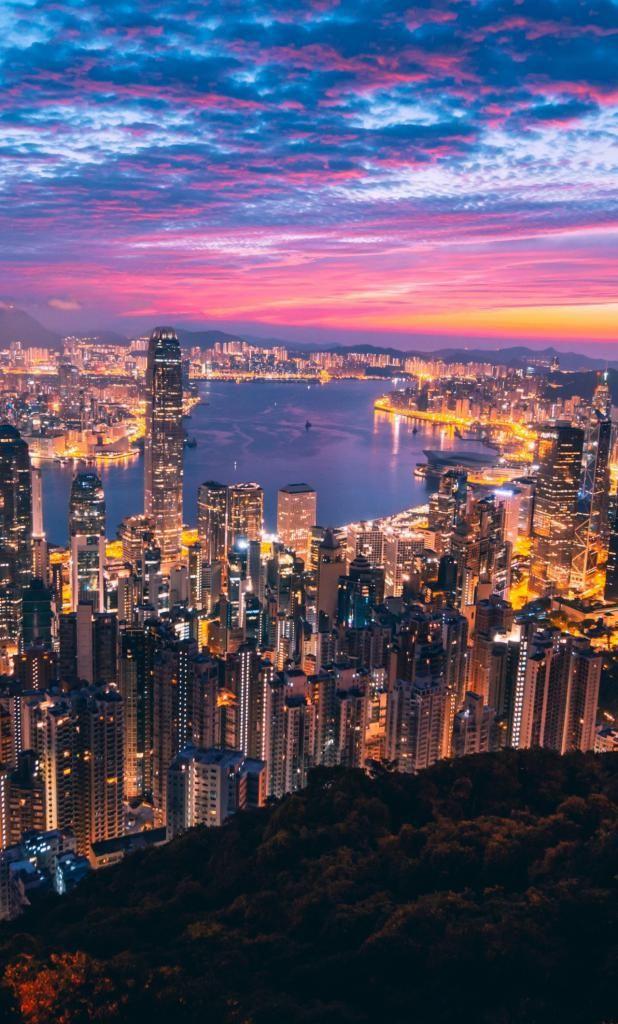 4k Iphone X Wallpaper Night Cityscape Hong Kong City 4k Hd Cheap