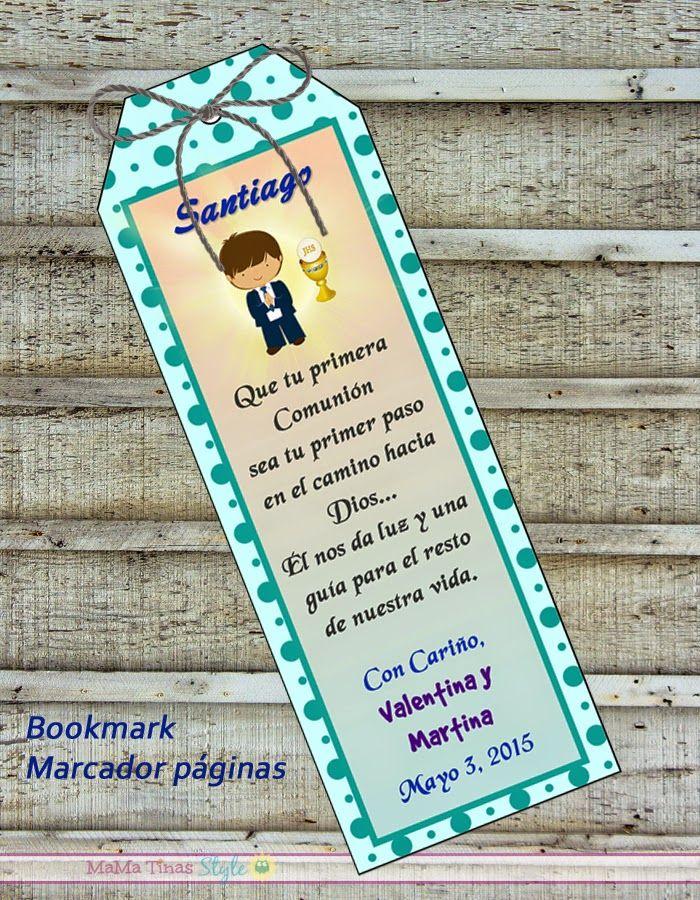 Etiquetas separador de hojas Primera Comunión ** Bookmark favor first communion