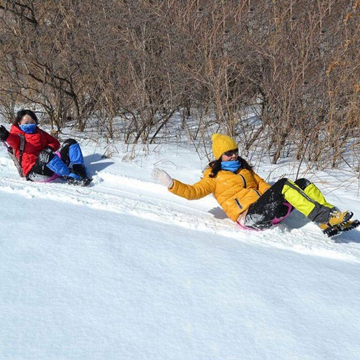 Спортивные Зимние Сгущает Пластиковые Травы Лыжах Pad Сани Доска Снега Сани Сноуборд