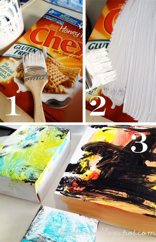 17 best images about easy paintings on pinterest for What type of cardboard are cereal boxes made of