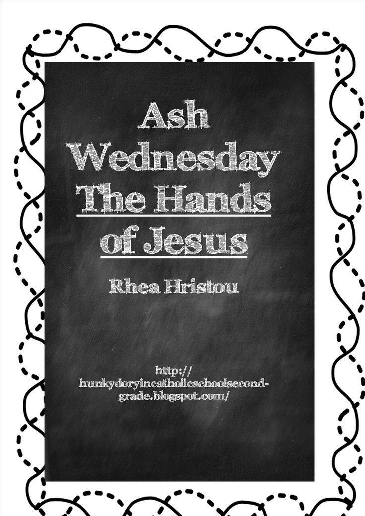 A booklet for your children to construct - explaining Ash Wednesday.