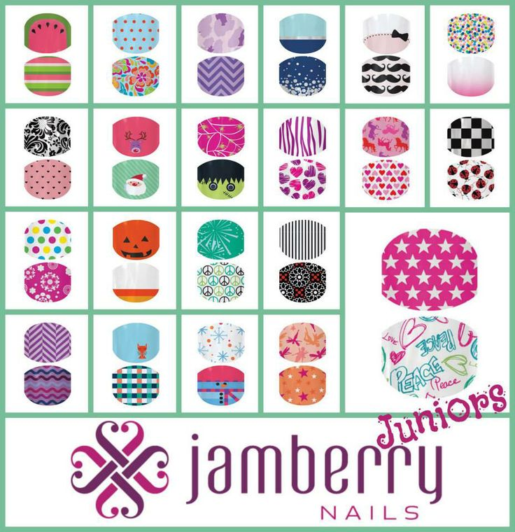 Jamberry Juniors for your little ones! SO adorable! :) www.lcrodriguez.jamberrynails.net