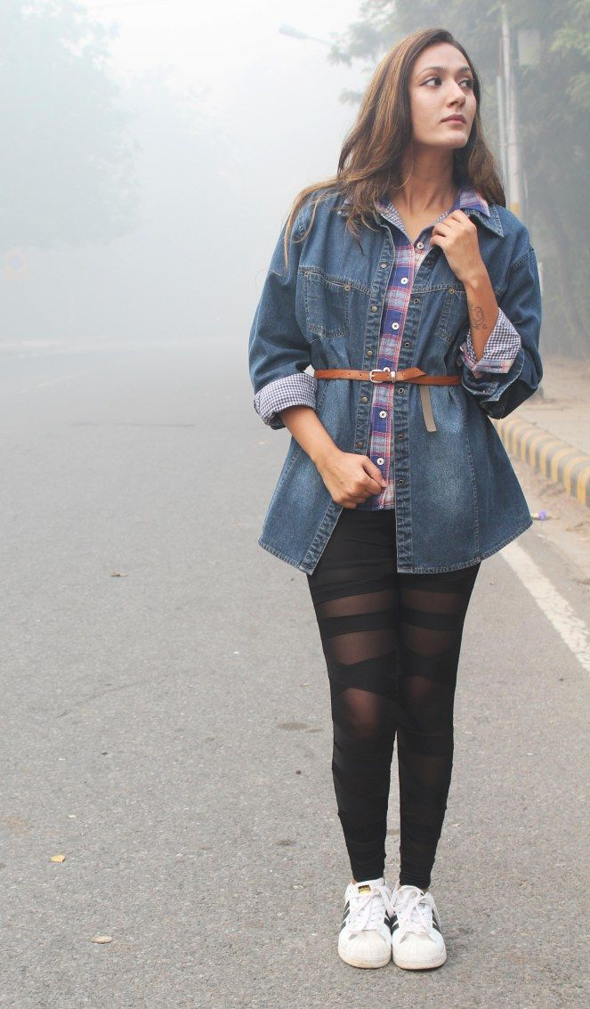 Oversized Denim #shirt