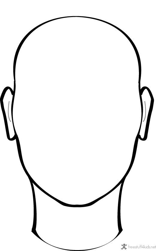 blank female face template - photo #22