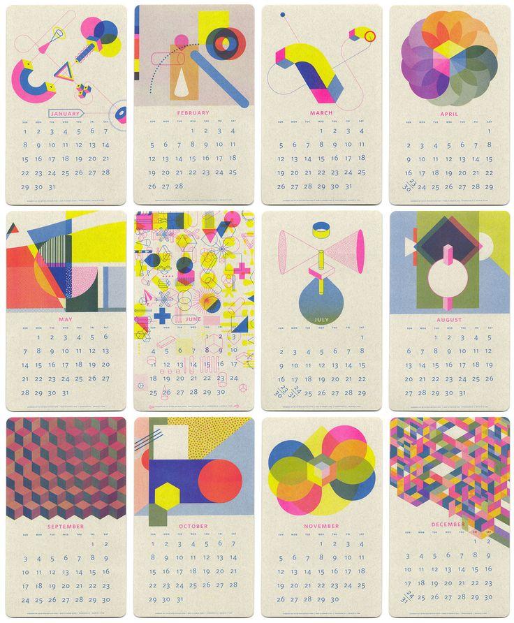 2017 Isometric Risograph Calendar by JP King