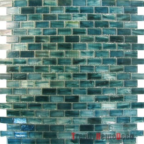 1SF Blue Recycle Glass Mosaic Tile Backsplash Kitchen Wall Sink Bath | EBay