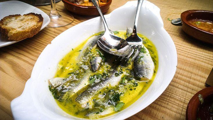 Boquerones at Boqueria in Stockholm - read about it at http://www.inthekitchen.se/pintxos-tapas-fran-baskien/ #food #tapas