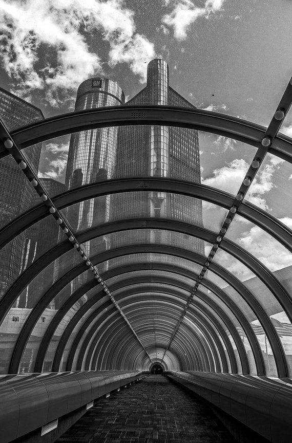 Detroit Photography | Renaissance Center | Black and White | Travel Photography | Michigan | Wall Art | Print | Downtown Detroit