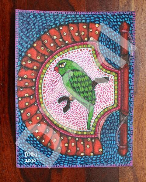Handfan ORIGINAL painting by Deezden on Etsy, $150.00
