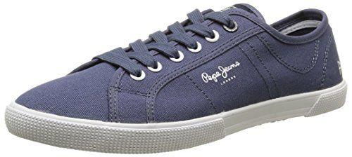 Pepe Jeans  Aberman Basic,  Herren Sneaker , Blau - Blau - Bleu (588 Ocean) - Größe: 41 - http://uhr.haus/pepe-jeans/41-eu-pepe-jeans-london-aberman-basic-herren-blau