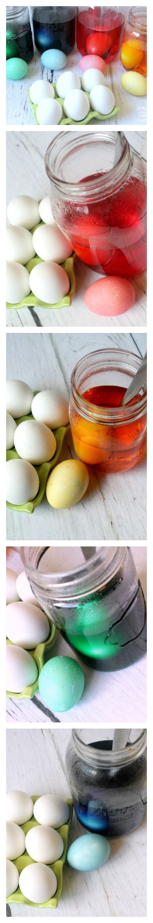 It's so easy to make your own Homemade Easter Egg Dye, it only requires 3 simple ingredients that are very common so you most likely already have everything you need! There's no reason to buy a special dye kit when you can easily make your own and it works perfectly!