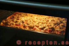 Så gör du steg 8 pizza med pizzadeg på bakpulver