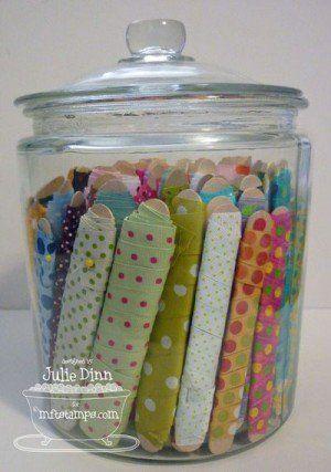 Great idea for Ribbon Storage
