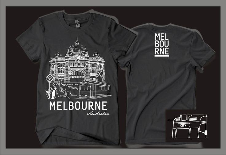 Souvenir t-shirt for Melbourne by gravisi