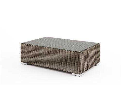 venezia stolik 110 cm z umeleho ratanu pieskova